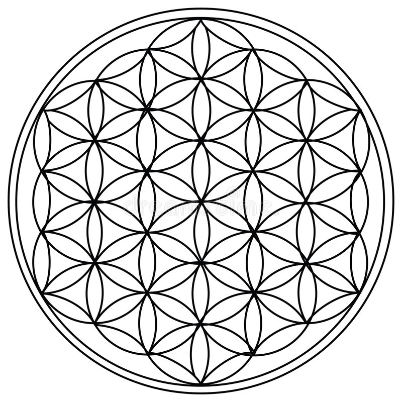 The Flower of Life royalty free illustration