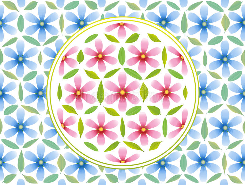 Flower Of Life Pattern Pink Blue royalty free illustration