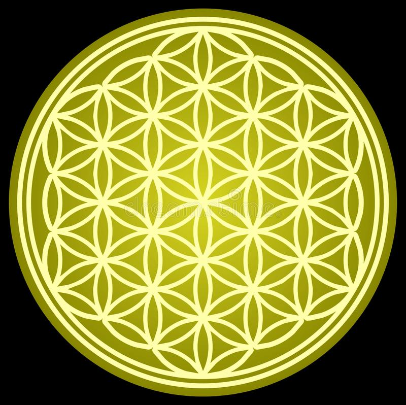 FLOWER OF LIFE sacred geometry royalty free illustration