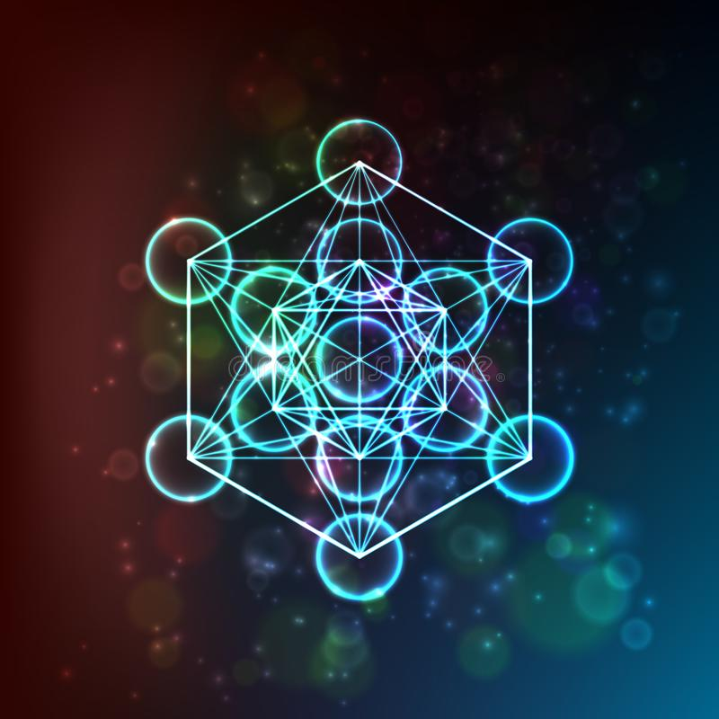 Flower of Life. Sacred Geometry. Symbol of Harmony and Balance. Vector. Illustration stock illustration