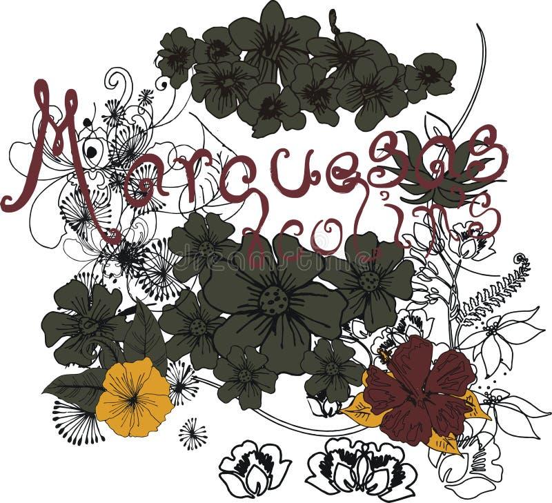 Flower line stock illustration