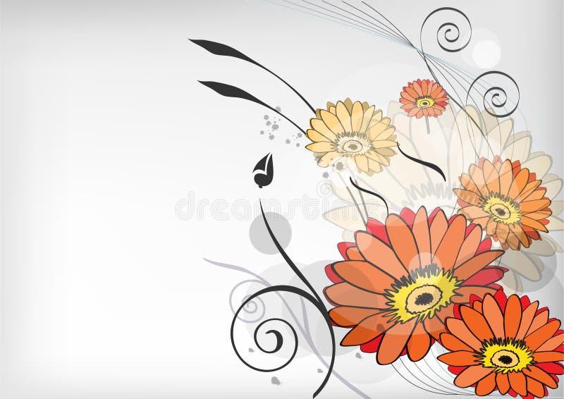 Flower line art. With swirls vector stock illustration