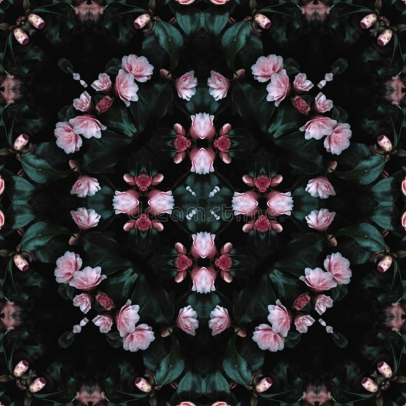Flower and lives. Pattern, design, texture stock image