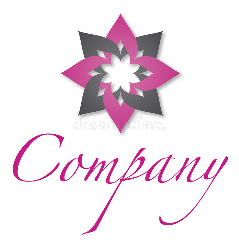 Flower logo. A logo that can be used for company branding