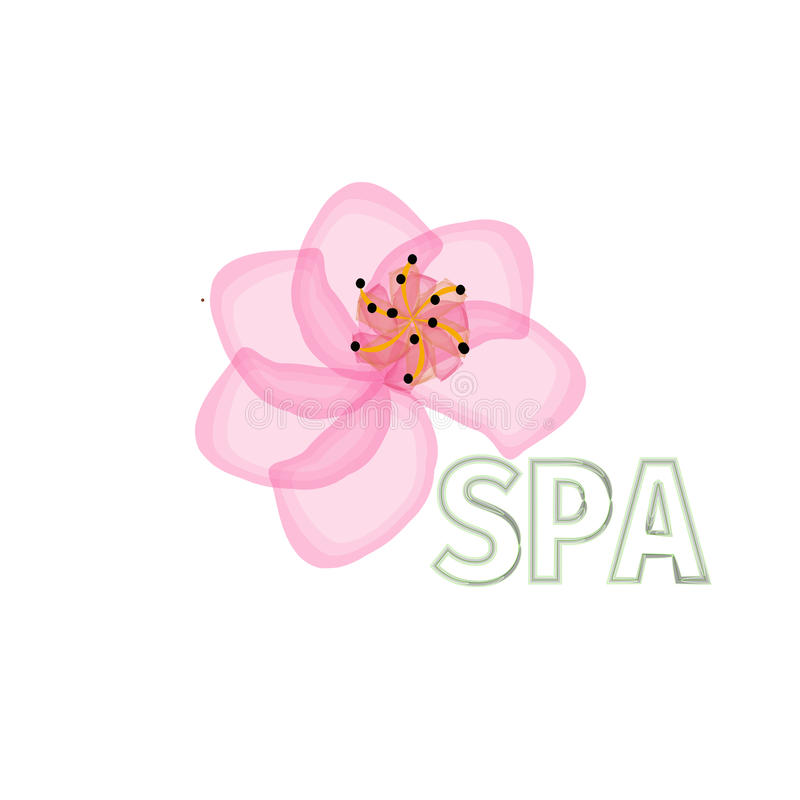 Flower Logo abstract Beauty Spa salon Cosmetics brand .design Luxury Fashion template. royalty free illustration