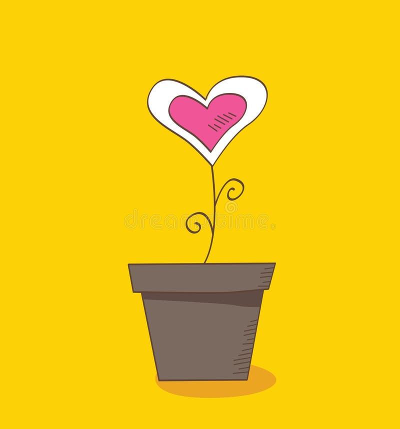 Flower of love stock illustration