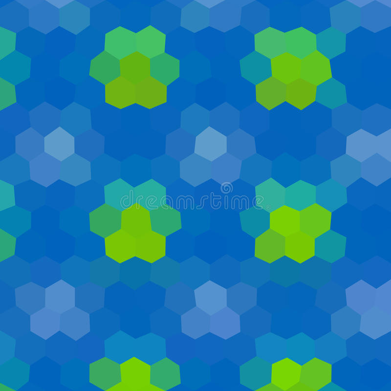 Flower low poly hexagon style vector mosaic. Background vector illustration