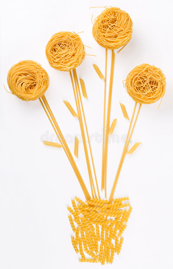 Flower made of pasta royalty free stock photo