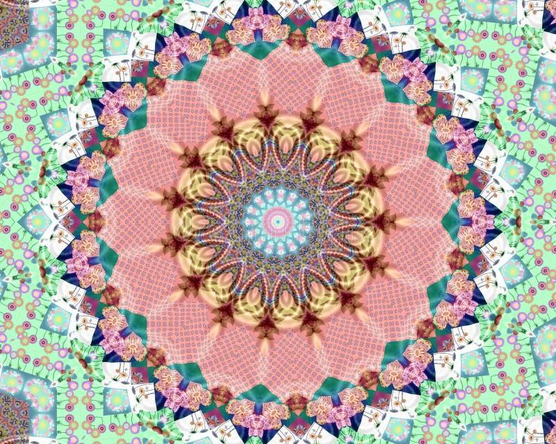 Flower mandala good vibes royalty free stock photos
