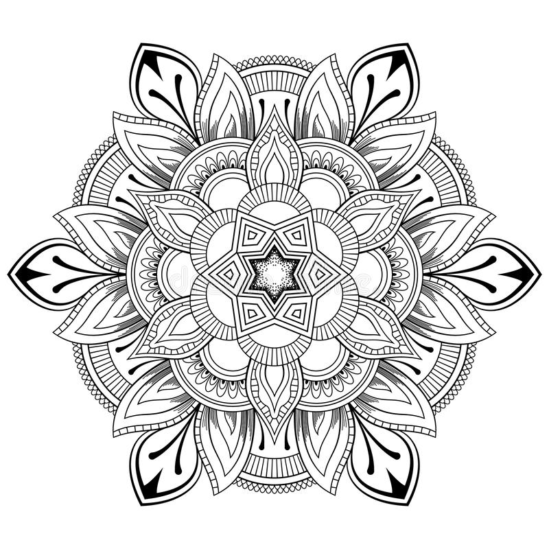 Download Flower Mandala Motifs Vintage Decorative Elements Oriental Pattern Vector Illustration Coloring