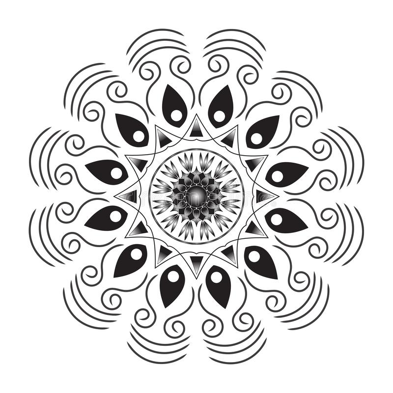 Flower Mandala. Vintage decorative elements. Oriental pattern,  illustration. Islam, Arabic, Indian, moroccan,spain, turkish. Pakistan, chinese, mystic vector illustration