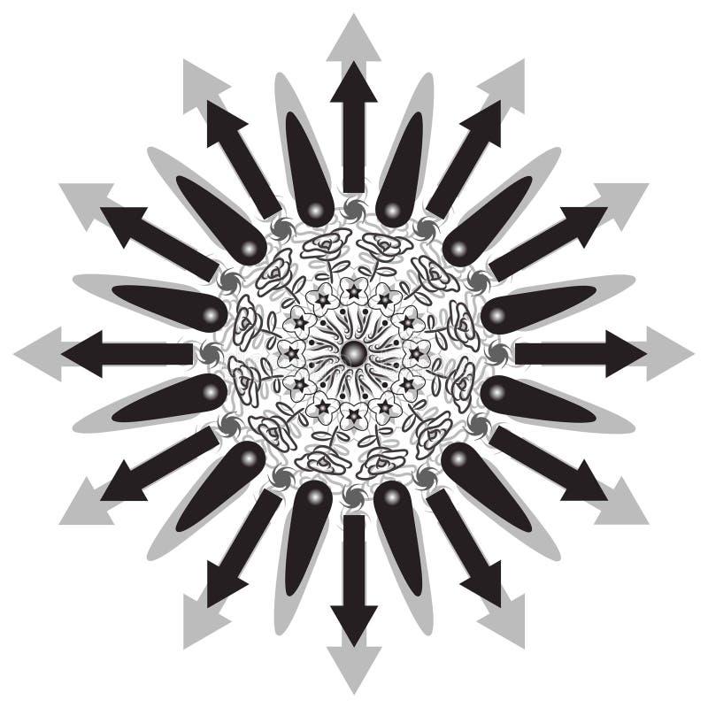 Flower Mandala. Vintage decorative elements. Oriental pattern,  illustration. Islam, Arabic, Indian, moroccan,spain, turkish. Pakistan, chinese, mystic stock illustration