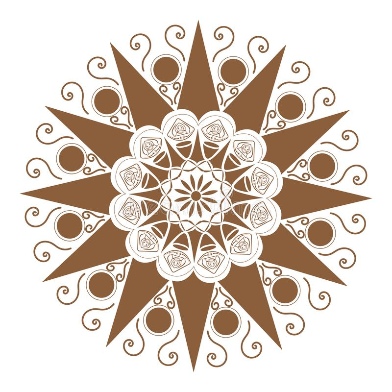 Flower Mandala. Vintage decorative elements. Oriental pattern,  illustration. Islam, Arabic, Indian, moroccan,spain, turkish. Flower Mandala. Vintage decorative vector illustration