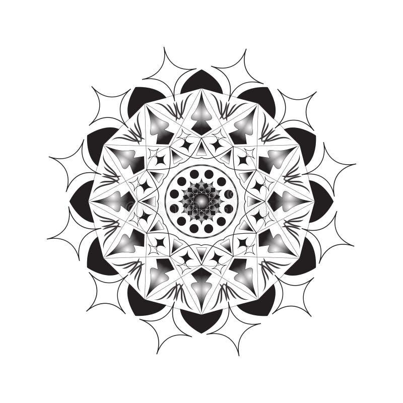 Flower Mandala. Vintage decorative elements. Oriental pattern,  illustration. Islam, Arabic, Indian, moroccan,spain, turkish. Pakistan, chinese, mystic royalty free illustration