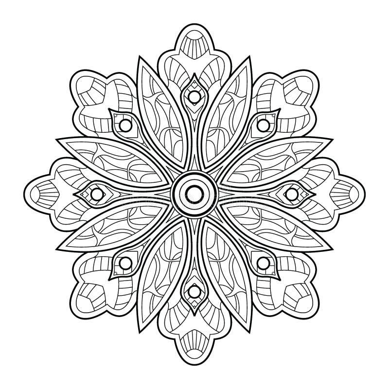 Flower Mandala. Vintage Decorative Elements Stock Vector ...