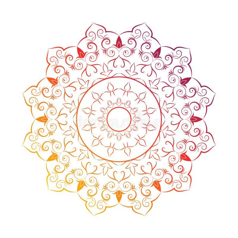 Flower Mandala Vintage decorative elements.vector illustrationIndian vignette design for greeting card, photo, save vector illustration