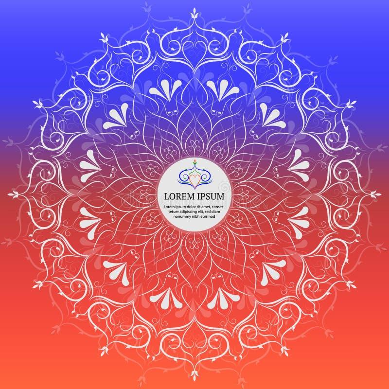 Flower Mandala Vintage decorative elements. vector illustrationIn vector illustration