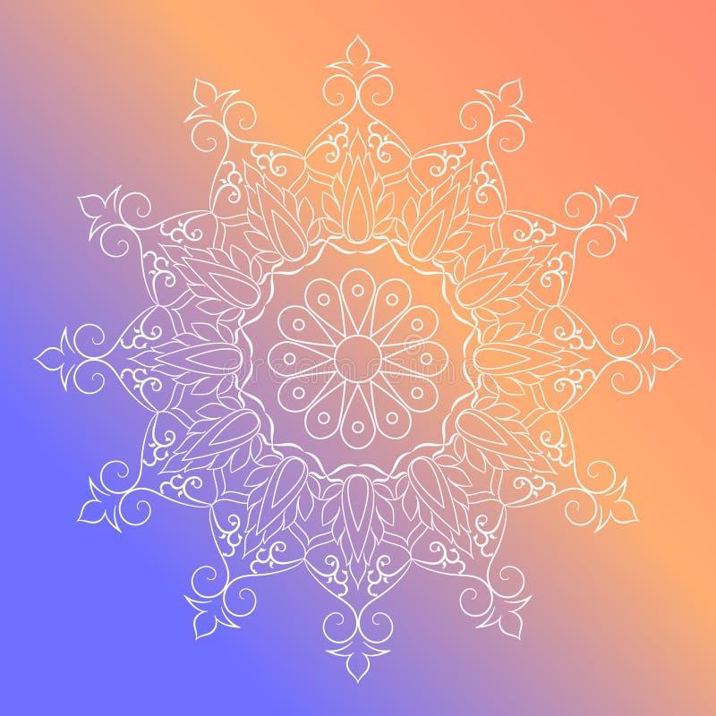 Flower Mandala Vintage decorative elements.vector illustrationIndian vignette design for greeting card, photo, save stock illustration