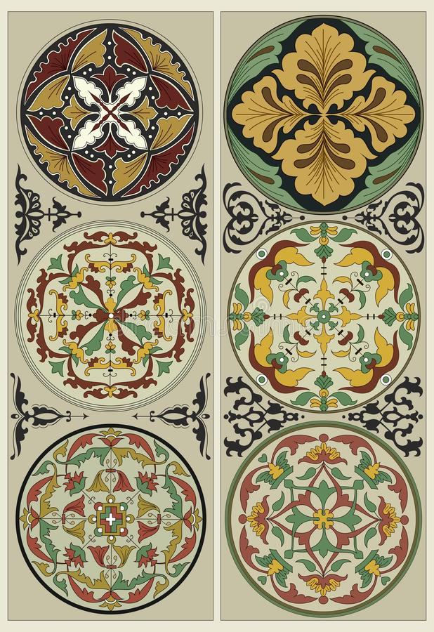 Flower Mandalas - Traditional ornate stock photography