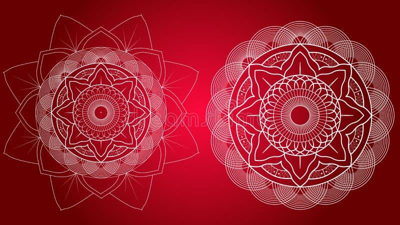 Flower Mandalas. Vintage Decorative Elements. Oriental pattern, illustration. vector illustration