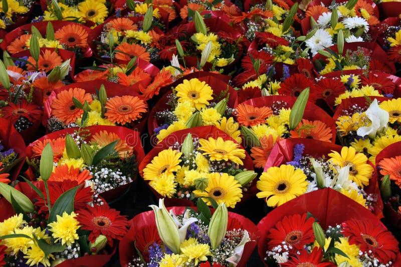 Flower market stock photos