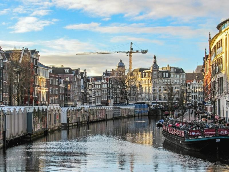 Flower Market in Amsterdam, Holland, Netherlands royalty free stock images
