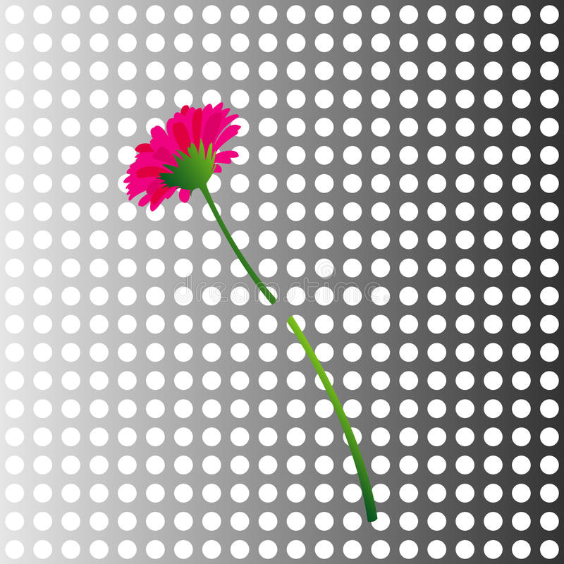 Download Flower in a metal wall stock vector. Image of color, cram - 10718995