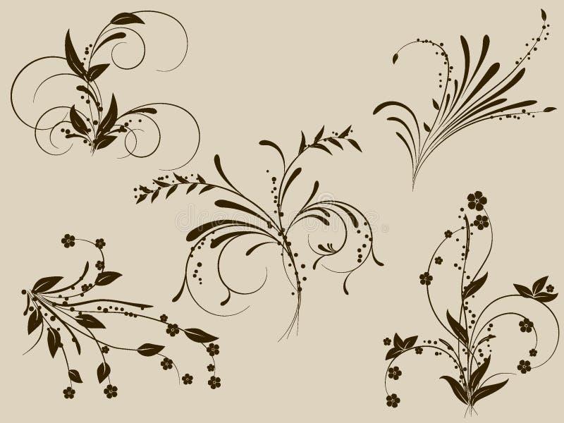 Flower monogram royalty free illustration