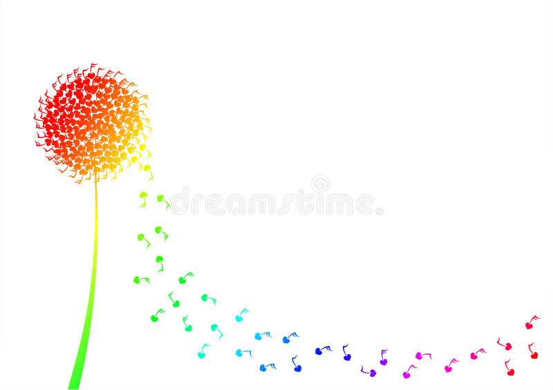Flower musical border greeting card royalty free stock photography