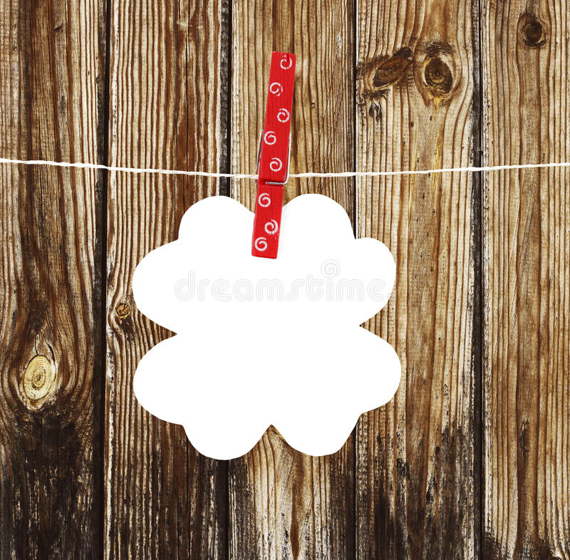 Flower Note On A Rope Stock Photo