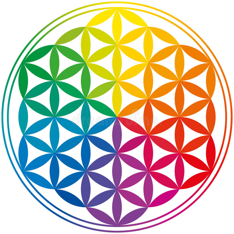 Free Flower Of Life Rainbow Colors Stock Photos - 32031153