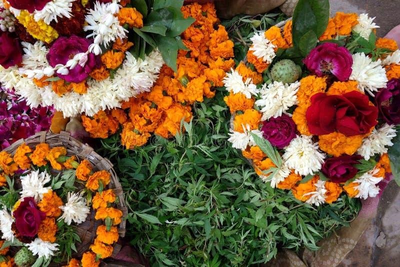 Flower Offerings to Shiva stock photo