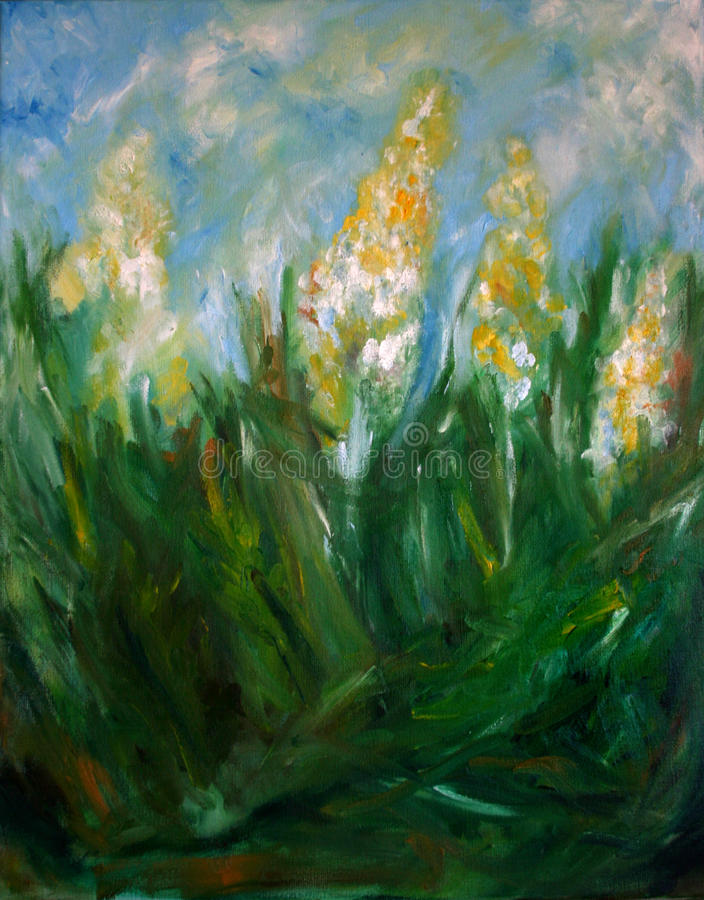 Flower Oil Painting royalty free stock images