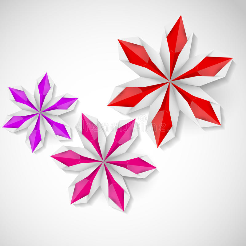 Download Flower Origami On A White Background Stock Vector