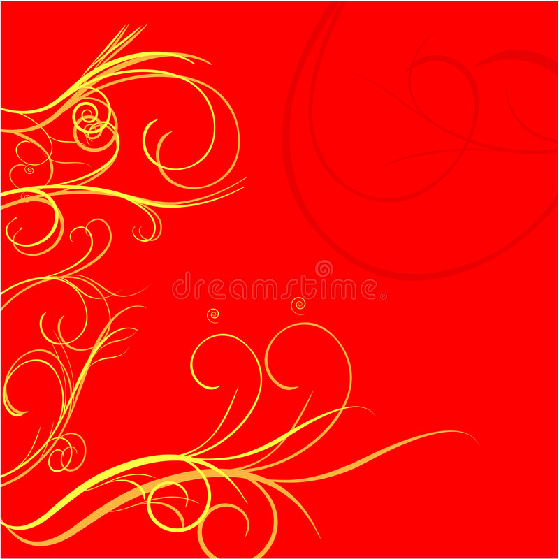 Flower ornament stock illustration