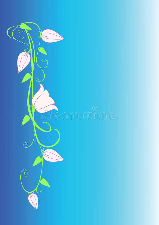 Download Flower ornament stock vector. Image of blue, illustrated - 8090066