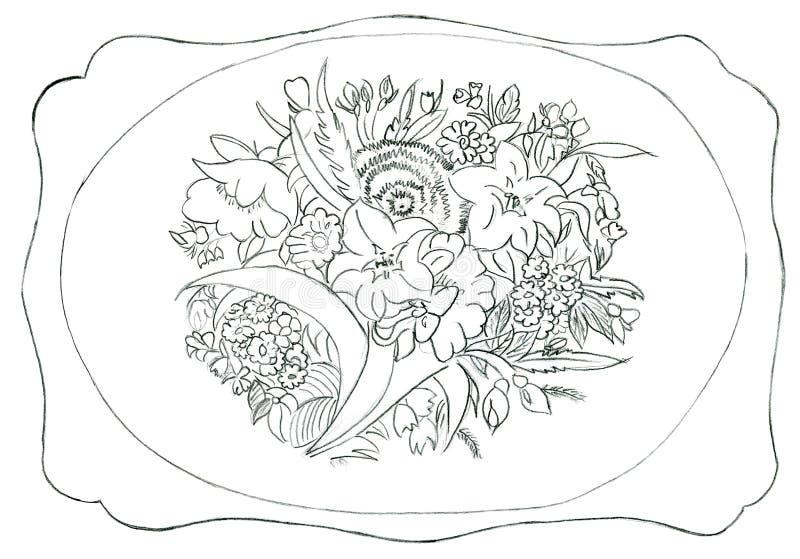 Download Flower Ornament - Hand Drawn Illustration Stock Illustration - Image: 12919345