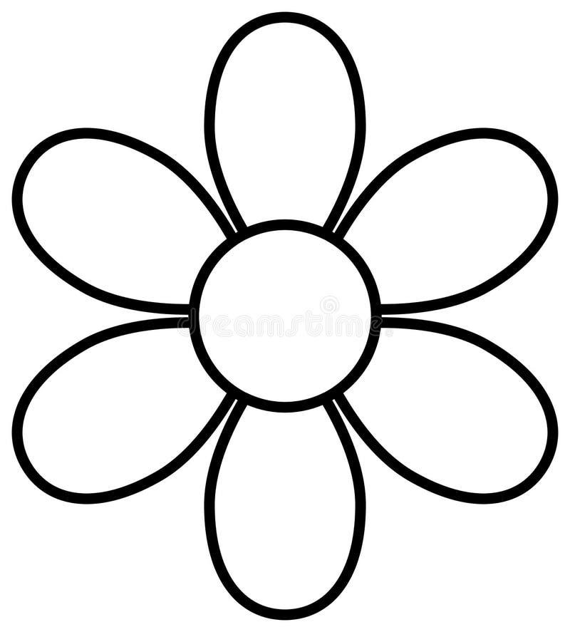 Flower outline icon. Blossom clipart. Vector illustration stock illustration