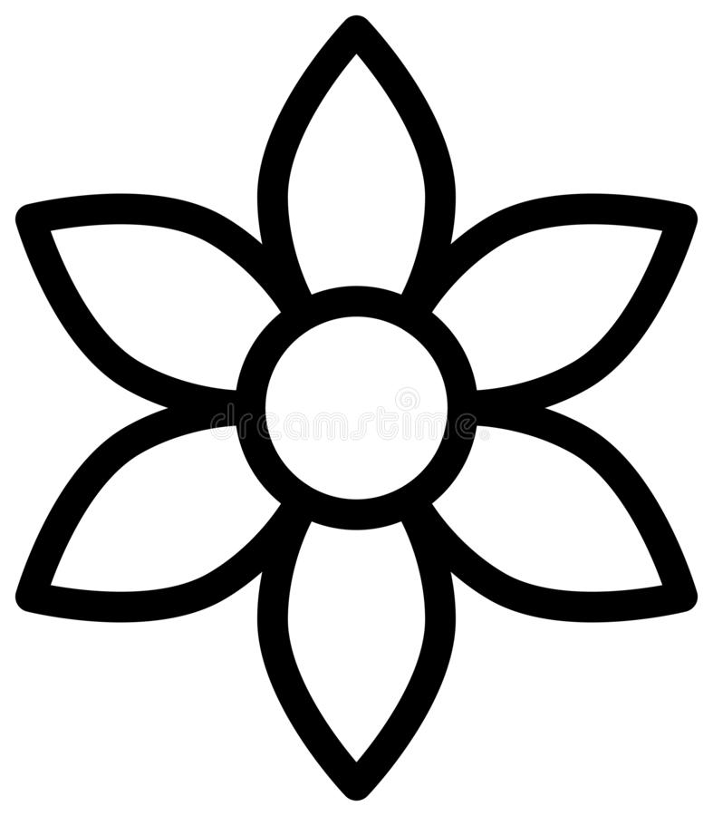Flower outline icon. Vector illustration royalty free illustration