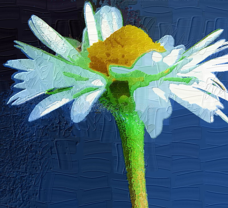 Flower painting royalty free stock photography