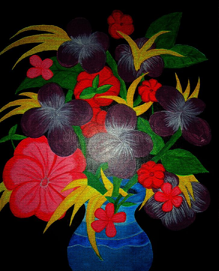 Flower painting on canvas created background design royalty free stock photo