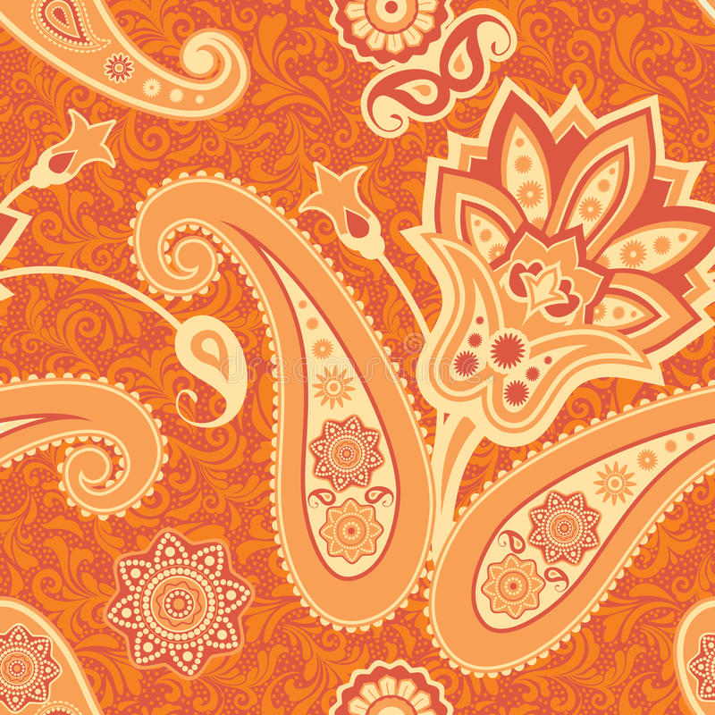 Download Flower And Paisley Seamless Pattern Stock Photography - Image: 32044822