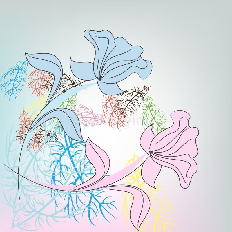 Flower pastel background royalty free illustration