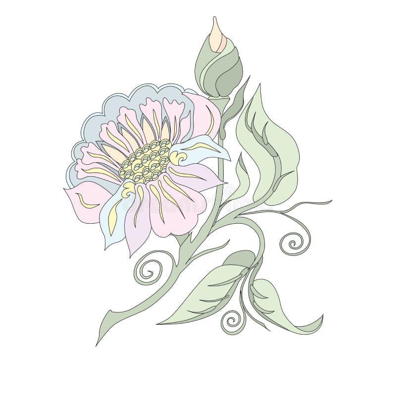 Flower in pastel shades