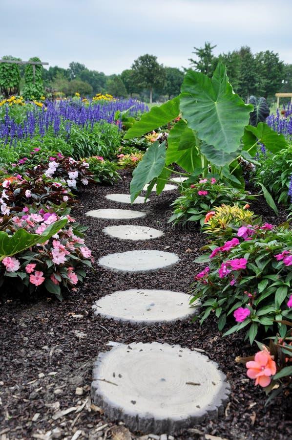 Flower path royalty free stock photos