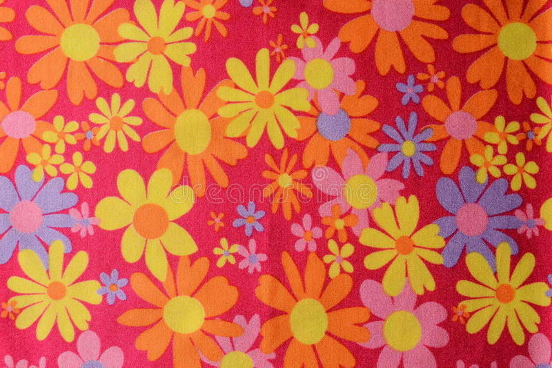 Flower pattern. Beautiful flowers pattern on a table cloth royalty free stock image