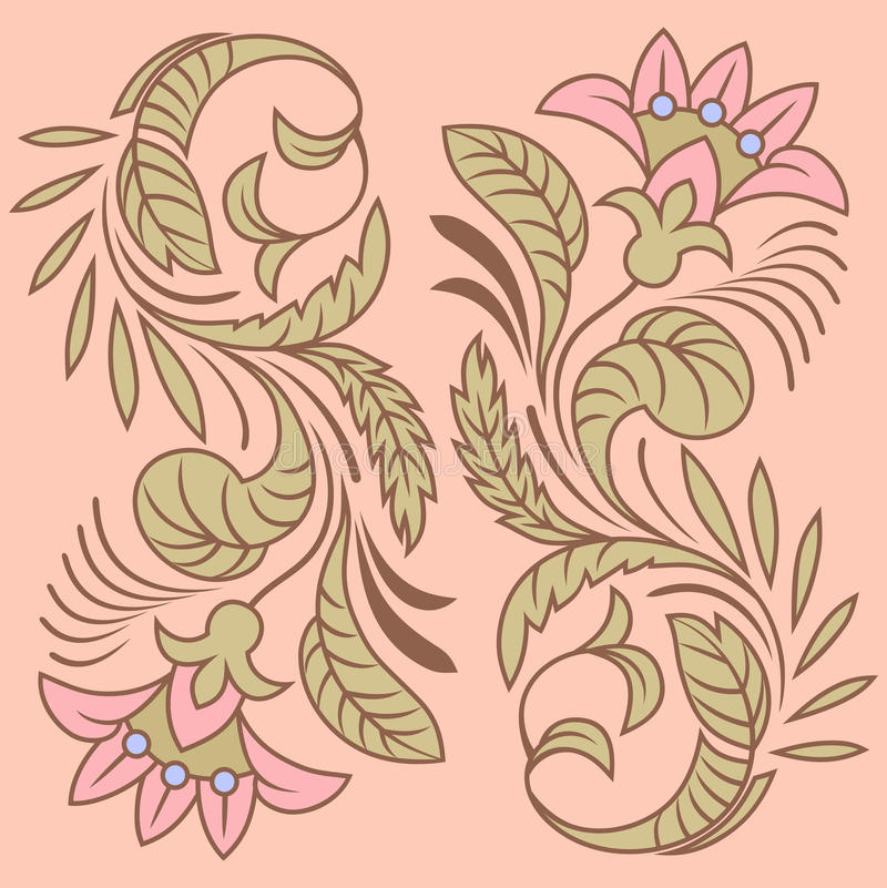 Download Flower pattern stock vector. Image of matte, retro, dogrose - 27634538