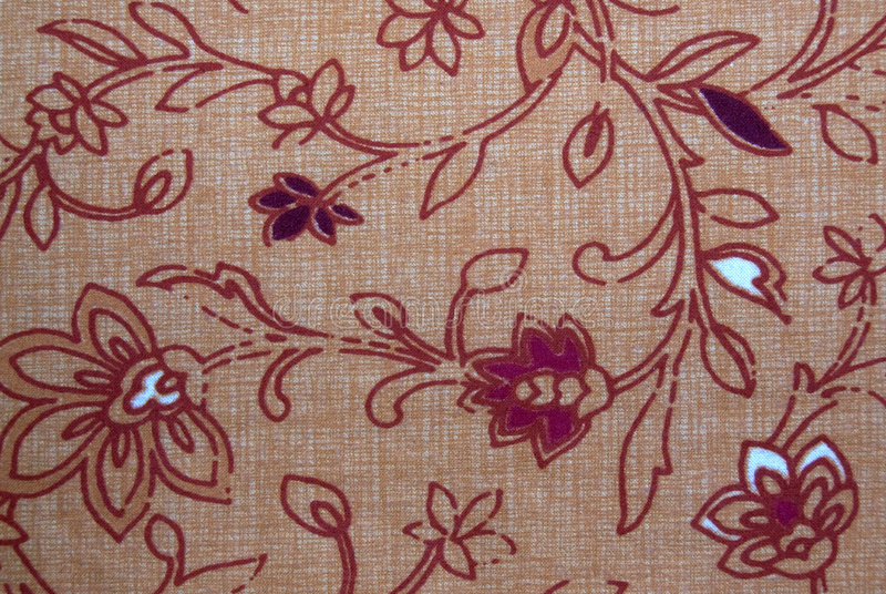 Flower pattern. A floral textile pattern in red and yellow stock image