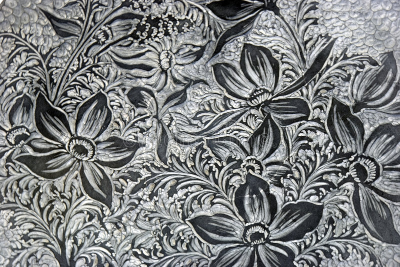 Flower pattern. A floral textile pattern in grey and white royalty free stock image
