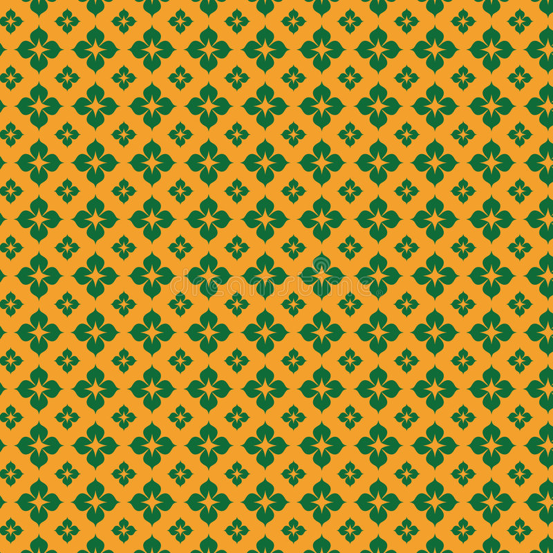 Flower pattern background. Floral patterned background green and yellow royalty free illustration